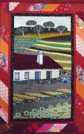 PAISAGEM RURAL, tapeçaria de Evelyne Regnault, Monchique