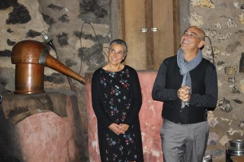 Madalena Victorino e Giacomo Scalisi, responsáveis pelo projeto «Lavrar o Mar»